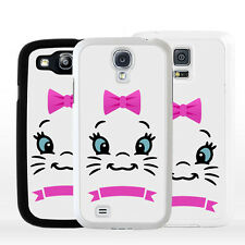 Cover Plastica Rigida Gatto Cartoon per Samsung Galaxy A J S Edge Plus Note Mini