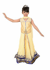 Lehenga Choli Dress for girls Kids - Beige - Embroidered - Partywear