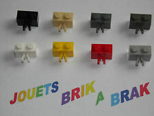 Lego briques brick de 1x2 2x1 modifié pince clip choose color ref 30237