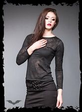 schwarzes Shirt transparente Ornamente Gr. XS,S, XL Gothic Queen of Darkness