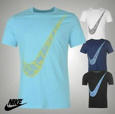 Mens Genuine Nike Classic Palm Swoosh Large Printed T Shirt Crew Top Size S-XXL