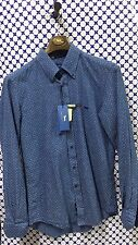 Camicia HARMONT & BLAINE Uomo con righine e letterine -- Denim -- CX011