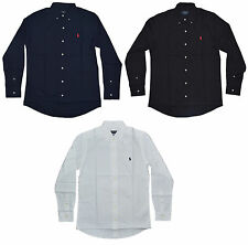 Slim Fit Polo Ralph Lauren Cotton Shirts for Men - Long Sleeve