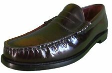 Ikon Original Retro Mod Oxblood Rub Off Penny Loafers