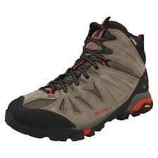 Mens Merrell Capra Mid Gore-Tex Boulder Grey Lace Up Ankle Boots J32305