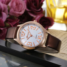 FAUX LEATHER WOMEN ART DIAL WRISTWATCH QUARTZ WRIST WATCH GIRL GIFT HOT CHIC