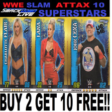 Topps WWE SLAM ATTAX  10th Edition SMACKDOWN LIVE SUPERSTARS  CARDS #133-180