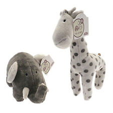 Eli the Elephant and Raff the Giraffe Baby's Super Soft Plush Animal Cuddly Toy