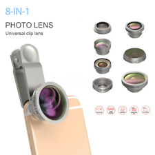 8 in 1 Clip On Camera Lens Kit Fisheye+Wide Angle+Macro+CPL for Mobile Phone