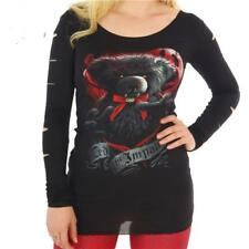 SPIRAL DIRECT TED THE IMPALER LONG SLEEVE T SHIRT TOP  GOTHIC  ALTERNATIVE