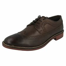Hombre Base London BARCELONA Grano Marrón Elegante Cordones Cuero Formal