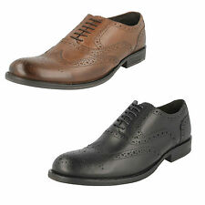 CABALLEROS Base London encerado Cuero Con Cordones Formal Zapatos Oxford Estilo