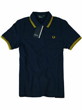 Fred Perry Damen Polo Navy  / Gelb G3600 865 Twin Tipped #7219