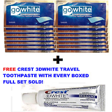 PRO TEETH WHITENING STRIPS + CREST3D WHITE TEETH WHITENING TRAVEL TOOTHPASTE