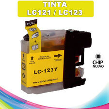 TINTA AMARILLA LC-121 LC-123 COMPATIBLE NONOEM BROTHER CARTUCHO LC121 LC123