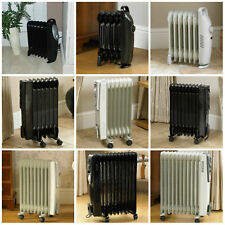 5/7/9/13 Fin Oil Filled Portable Electric Radiator Heater Adjustable Thermostat