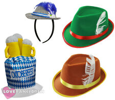 PACK OF 4 OKTOBERFEST HATS GERMAN BAVARIAN BEER FESTIVAL FANCY DRESS MENS LADIES