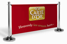 Cafe Barriers with Custom printed Banners - PVC or Mesh printed banners