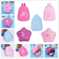Girls Toe Shoe Embroidered Ballet Dance Shoulder Bag Dancing Ballerina Backpack
