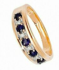 Eternity Ring Yellow Gold Sapphire and Diamond Appraisal Certificate