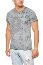 RUSTY NEAL Numbers Shirt Herren T-Shirt Freizeit-Shirt Grün Khaki Sale R-6739
