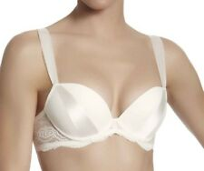 Simone Perele Queen Plunge Bra Moulded Cup Bridal Ivory Lace 15U342 Natural NEW