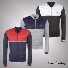 Mens Pierre Cardin Sporty Panelled Full Zipped Poly Top Track Jacket Size S-XXL