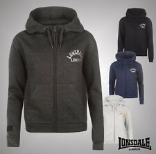 Ladies Branded Lonsdale Sporty Casual Soft Fleece Lined Zip Hoody Top Size 8-18