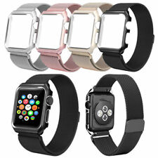 Milanese Stainless Steel Watch Band Strap & Cover Case For Apple Watch 38/42mm