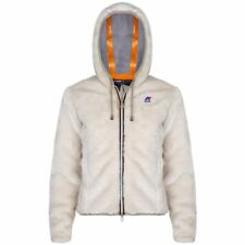 K-WAY giacca DONNA LILY PELUCHE BEAVER caldo ECO PELO Fullzip Aut/inv KWAY K52ro