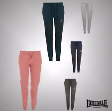New Ladies Branded Lonsdale Printed Slim Fit Jogging Bottoms Trousers Size 8-16