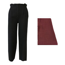 HUMILITY 1949 pantalones de mujer talle alto mod 4060 100% lino MADE IN ITALY