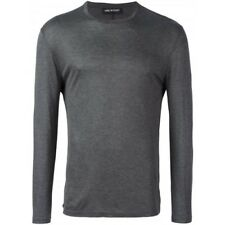 NEIL BARRETT Grey Fitted Lightweight Long Sleeved T-Shirt RRP: £180.00