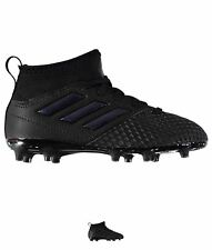 NUOVO adidas Ace 17.3 Primemesh FG Childrens Football Black/Black