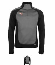 MODA Puma Evo Train Quarter Zip Top Mens Black/Coral