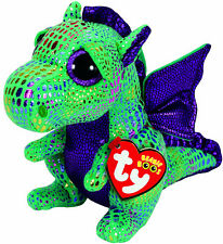 TY Beanie Boos *** Cinder the Green Sparkly Dragon *** Various Sizes