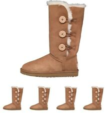 BRAND UGG Womens Bailey Button Triplet Button Boots Chestnut UK 3.5 Euro 36