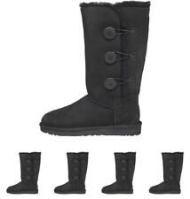 BRAND UGG Womens Bailey Button Triplet Button Boots Black UK 3.5 Euro 36