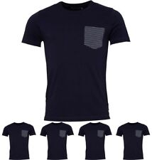 """OFFERTA French Connection Mens Stripe Pocket T-Shirt Marine Small Chest 36-38"""""""