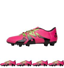 MODA adidas Mens X 15.3 FG / AG Football Boots Shock Pink/Solar Green/Core Blac
