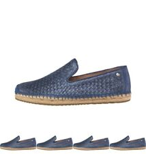 MODA UGG Womens Sandrinne Metallic Basket Espadrilles Racing Stripe Blue UK 3.5