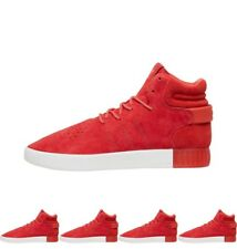 DI MODA adidas Originals Mens Tubular Invader Trainers Red/Red/Vintage White UK