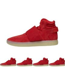 DI MODA adidas Originals Mens Tubular Invader Strap Trainers Red/Red/White UK 7
