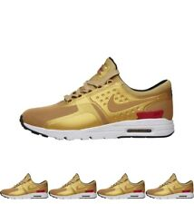 FASHIONS Nike Womens Air Max Zero Metallic Gold Qs Trainers Metallic Gold/Metal