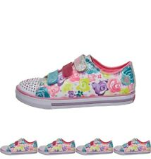 DI MODA SKECHERS Girls Twinkle Toes Chit Chat Pumps White/Multi 9.5