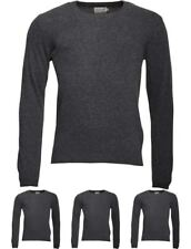 DI MODA Onfire Mens V-Neck Lambswool Mix Sweater Charcoal Marl Small Chest 38""