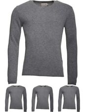 DI MODA Onfire Mens V-Neck Lambswool Mix Sweater Grey Marl Small Chest 38""