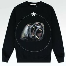 100% AUTHENTIC BRAND NEW MENS GIVENCHY PARIS MONKEY BROTHERS BLACK SWEATSHIRT