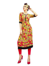 Sinina Multi Color Cotton Long Kurtis -Moments14
