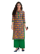 Sinina Multi Color Designer Cotton Printed Work Kurti -Tbeauty205